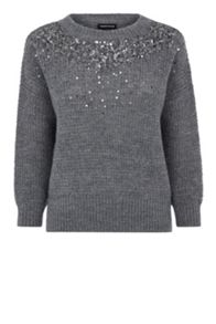 Embellished Yoke Jumper