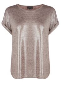 Metallic glitter t shirt