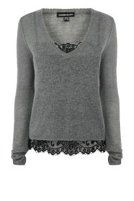 Layered V Neck Jumper