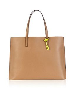 Unlined contrast tote