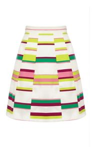 Cute Bold Stripe Collect Skirt