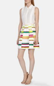 Karen Millen Cute Bold Stripe Collect Skirt