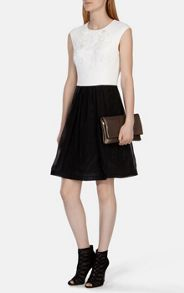 Karen Millen Full skirted dress with floral applique