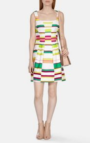 Karen Millen Cute Bold Stripe Collection dress