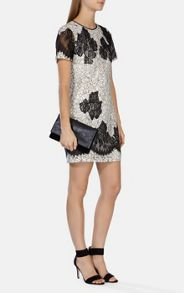 Karen Millen Feminine fine lace t-shirt dress