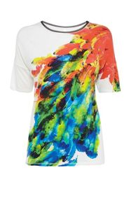Feather print tshirt