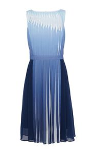 Karen Millen Dip dyed dress with manipulated pleats