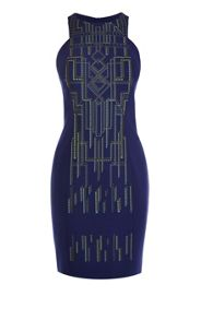 Tribal print and embroidery dress