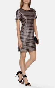 Multicoloured stripe sequin dress