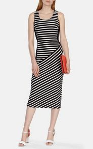 Stripe jersey collection dress