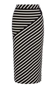 Stripe jersey collection skirt