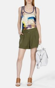 Soft tencel safari shorts