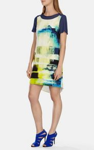 Art print silk dress