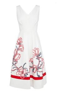 Karen Millen Full skirted ribbon applique dress