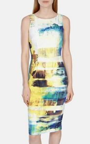 Karen Millen Art print stretch dress