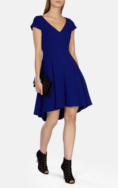 Karen Millen Fluid texture draped dress
