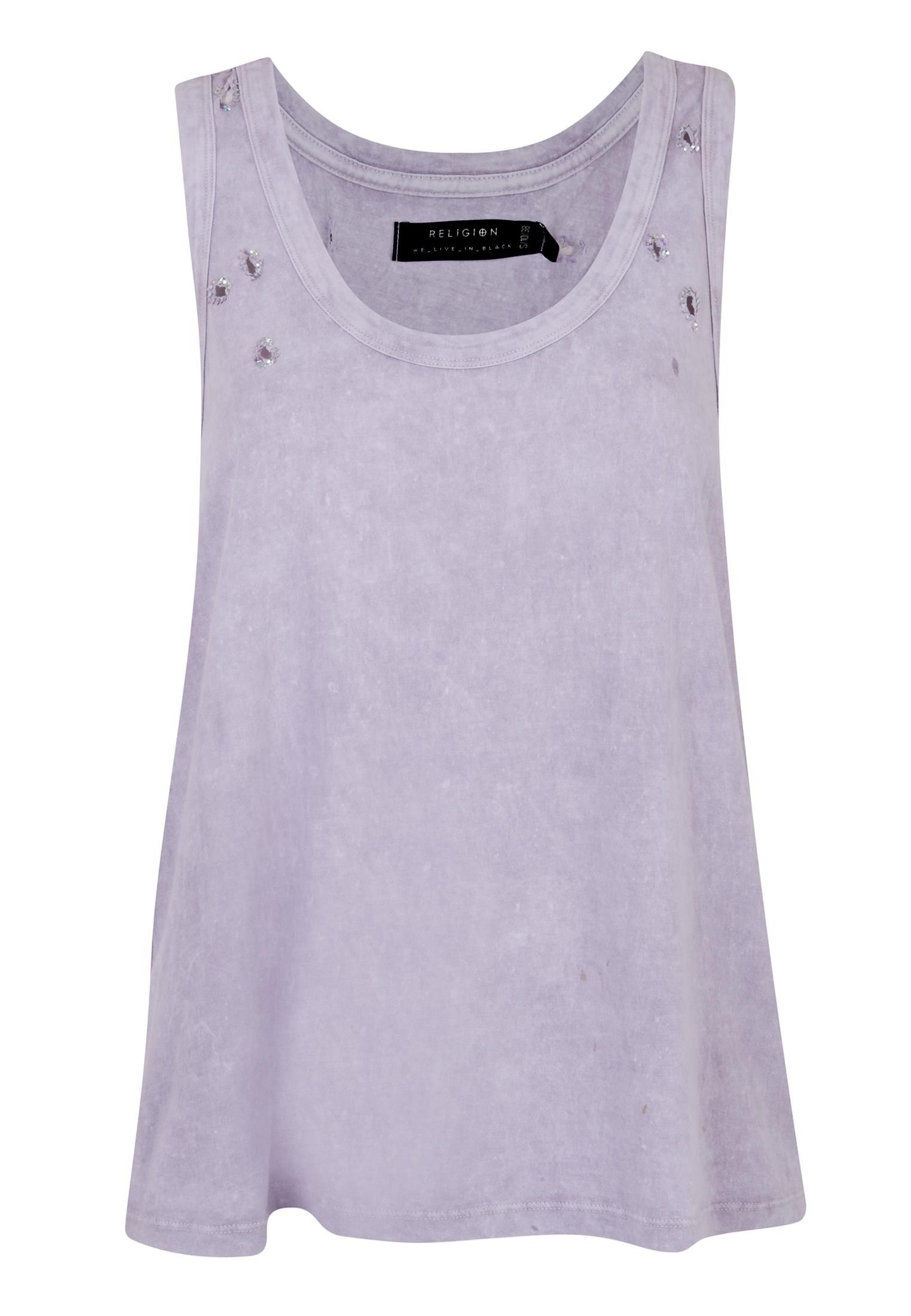 Religion Illusion vest, Lilac