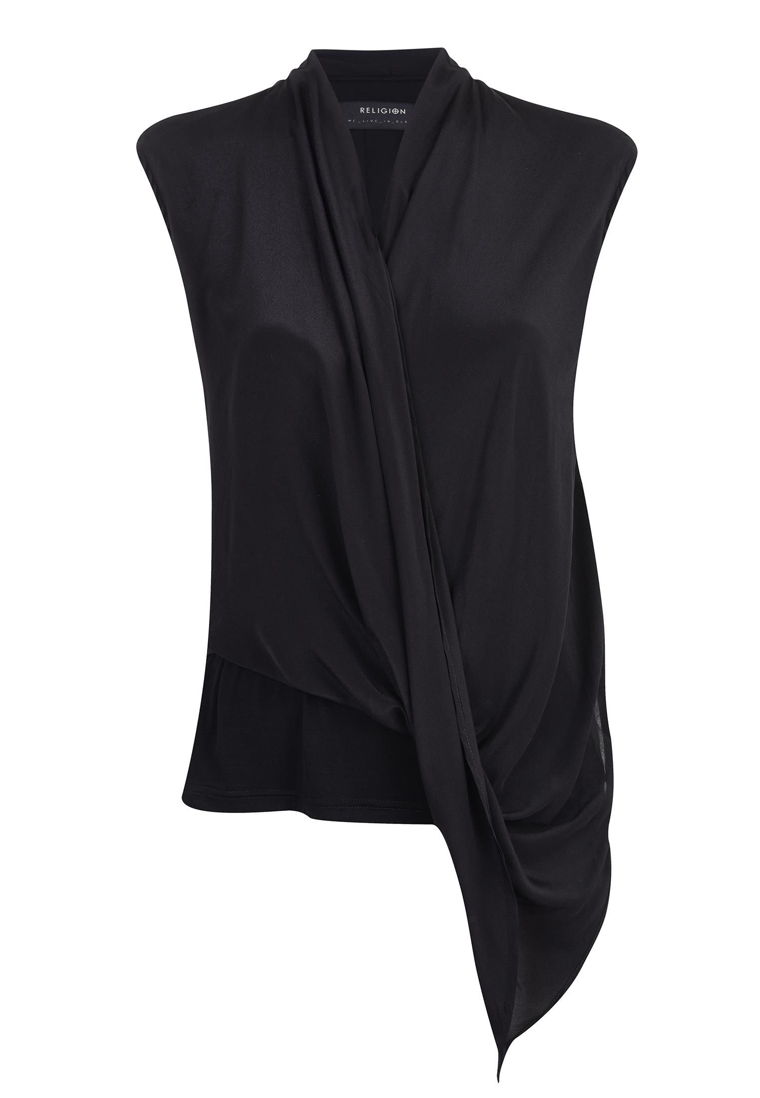 Religion Dynamic sleeveless top, Black