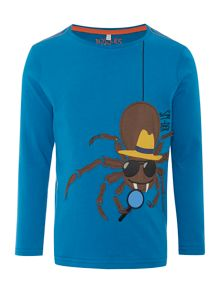 Boys Spider Logo Long Sleeved Top