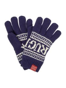 Joules Boys Rugby Logo Gloves