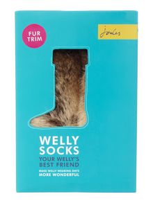 Girls Fauxfur Topped Fleece Socks
