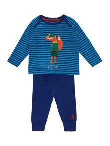 Joules Boys Fox Logo Two Piece Set