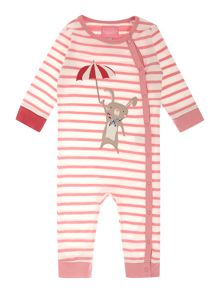 Joules Girls Rabbit With Umbrella Logo Long Sleeved Baby