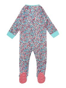 Girls Ditsy Print Long Sleeved Baby Grow