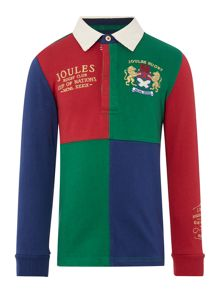 Boys Harlequin Long Sleeved Rugby Top