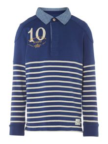 Boys Striped rugby top