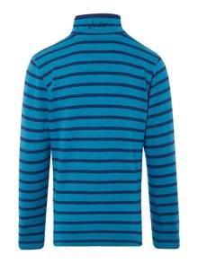 Joules Boys Striped Half Zip Funnel Neck Sweatshirt