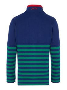 Boys Striped Half Zip Funnel Neck Sweatshirt