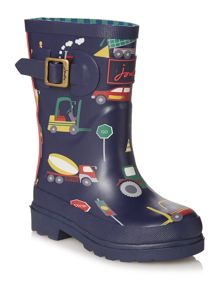 Joules Boys Digger Print Wellies