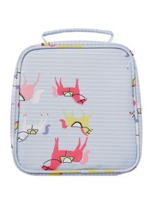 Girls Horse Print Lunch Bag And Lunch Box