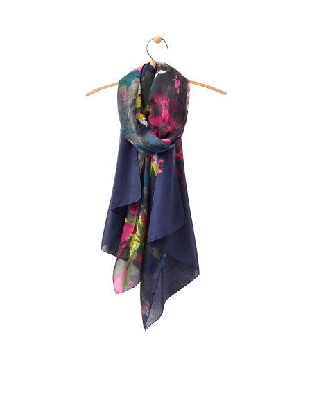Joules Longline Printed Polyester Scarf
