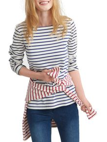 Joules Long Sleeve Jersey Striped Top
