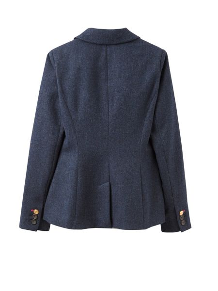 Joules Single Breasted Longer Line Tweed Jacket