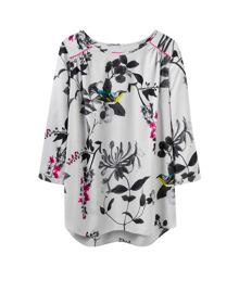 Joules 3/4 Sleeve Shell Top