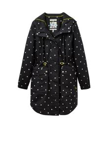 Joules Printed Waterproof Parka