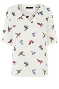 Bird V Neck Notch Top