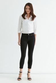 Plain black isabella crop jeans