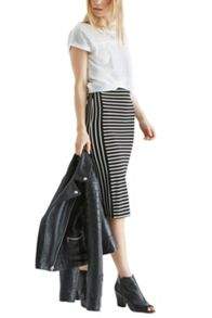 Cut about stripe tube skirt