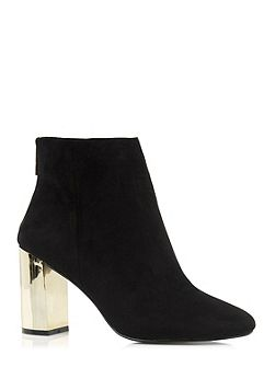 Becki Block Gold Heel Boot