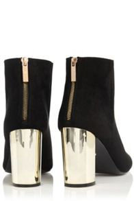 Oasis Becki Block Gold Heel Boot