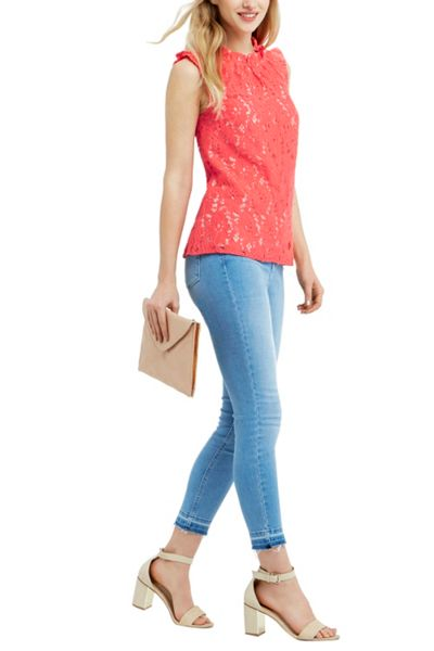 Oasis Lace Ruched Top