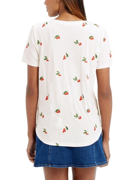 Oasis Cherry Embroidered Tee