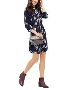 Oasis Sashiko Bird Shirt Dress