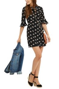 Oasis Margot Clover Flippy Slv Dress