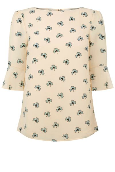 Oasis Margot Clover Lace Trim Top
