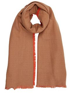 Plain Brushed Woven Scarf